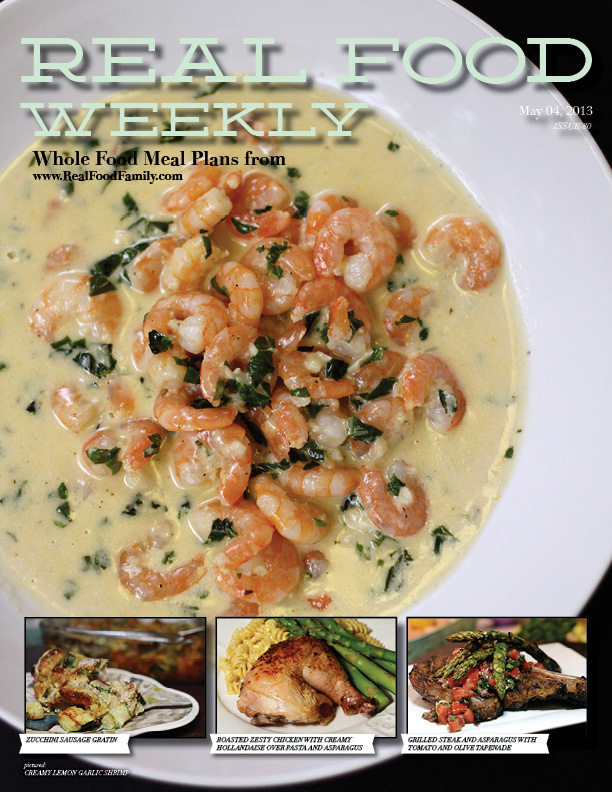 May 4, 2013 Meal Plan