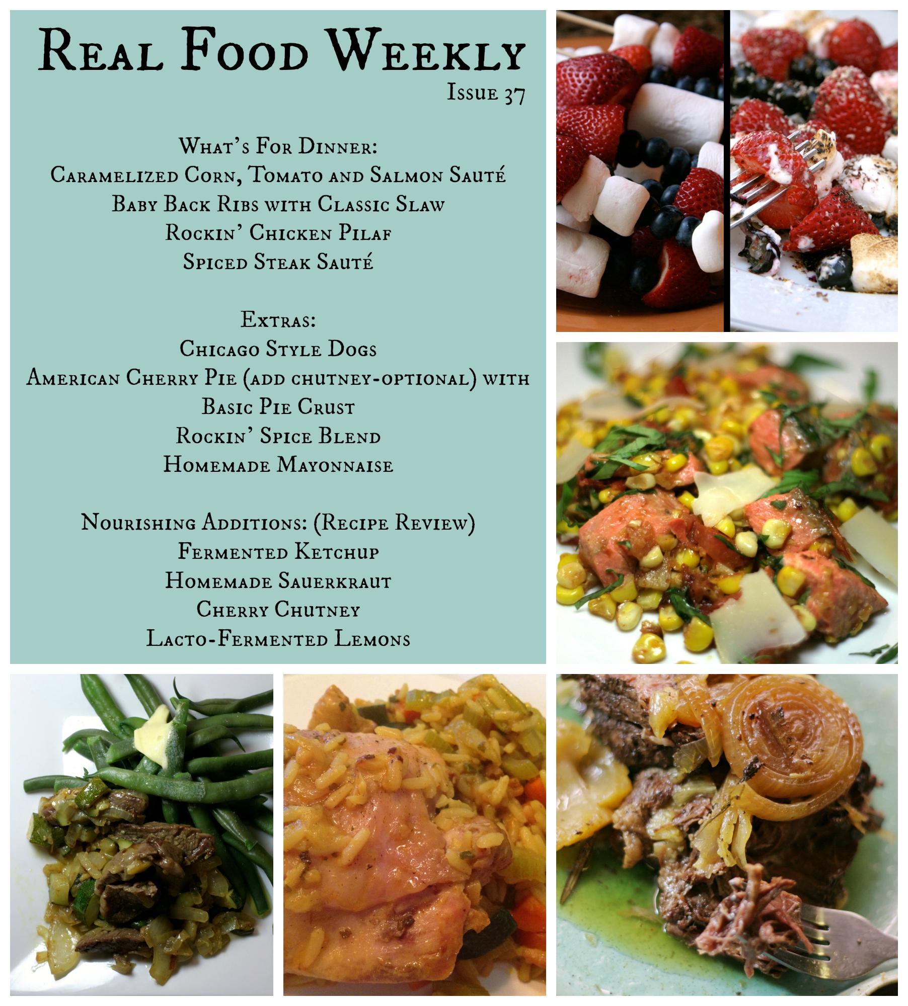 June 29, 2013 Meal Plan