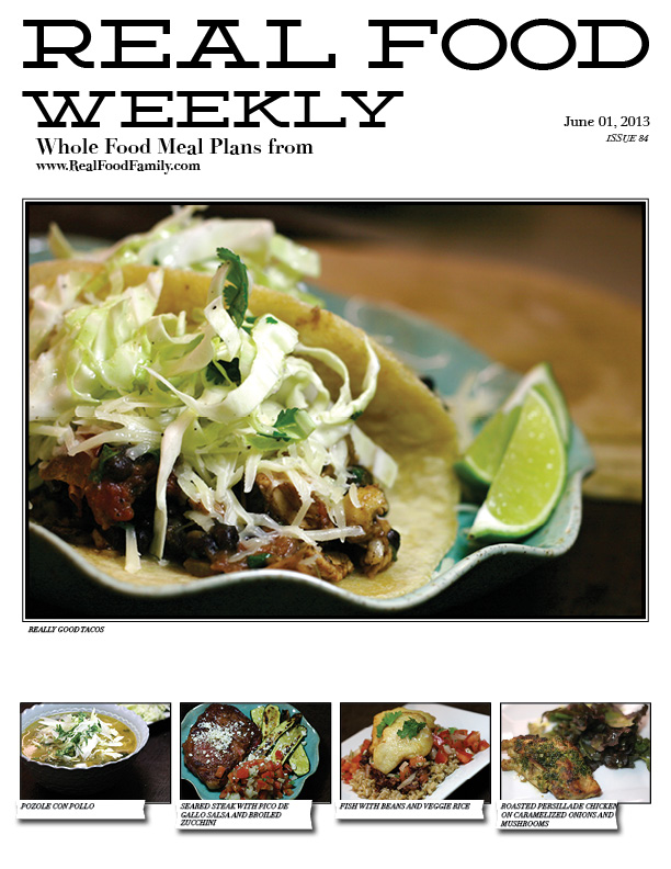 June 1, 2013 Meal Plan
