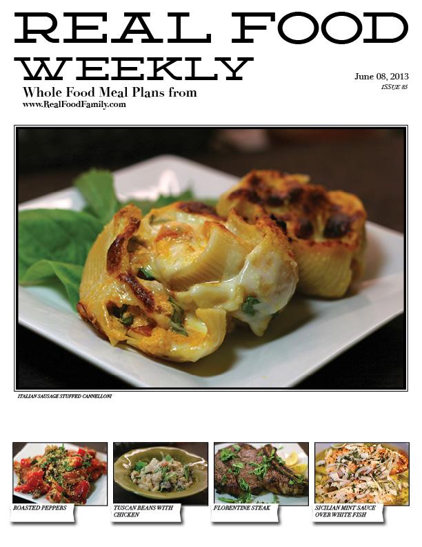 June 8, 2013 Meal Plan