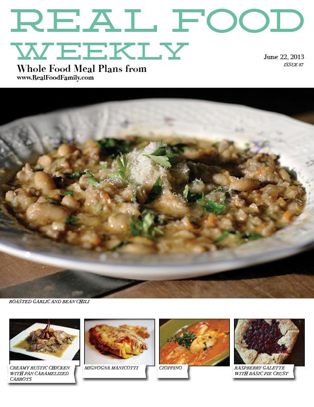 June 22, 2013 Meal Plan