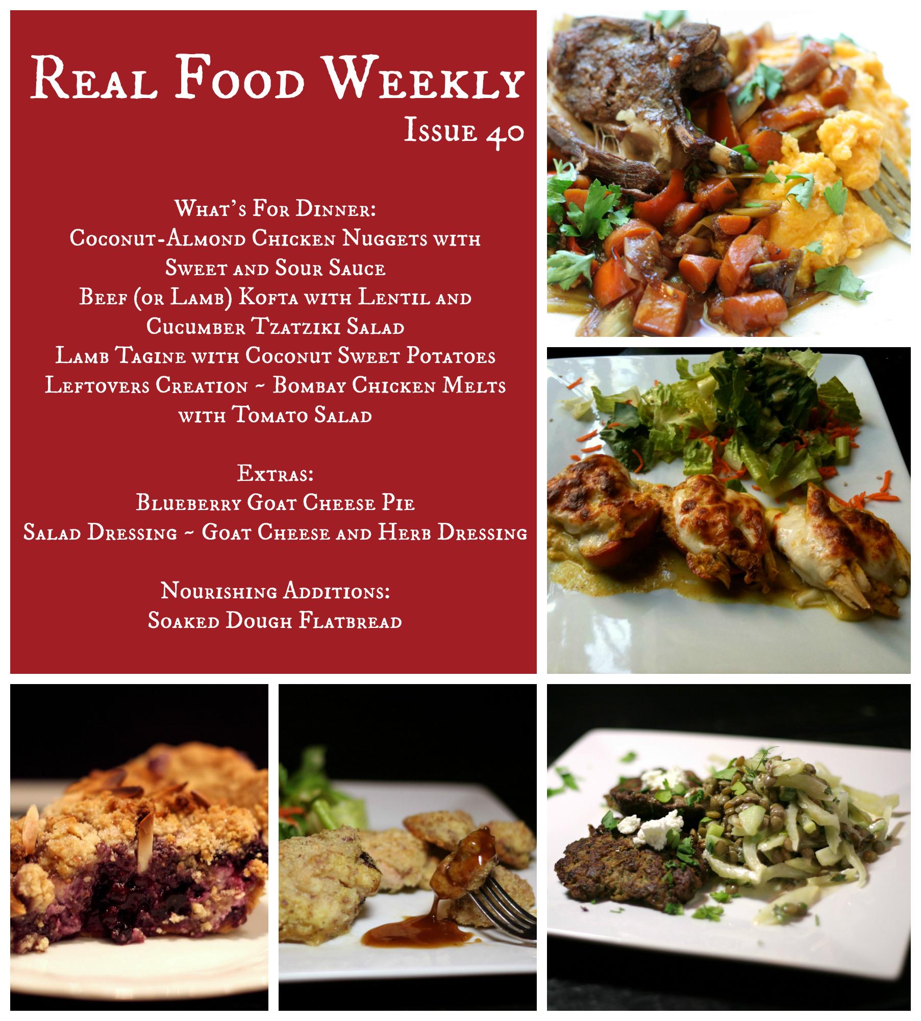 July 27, 2013 Meal Plan