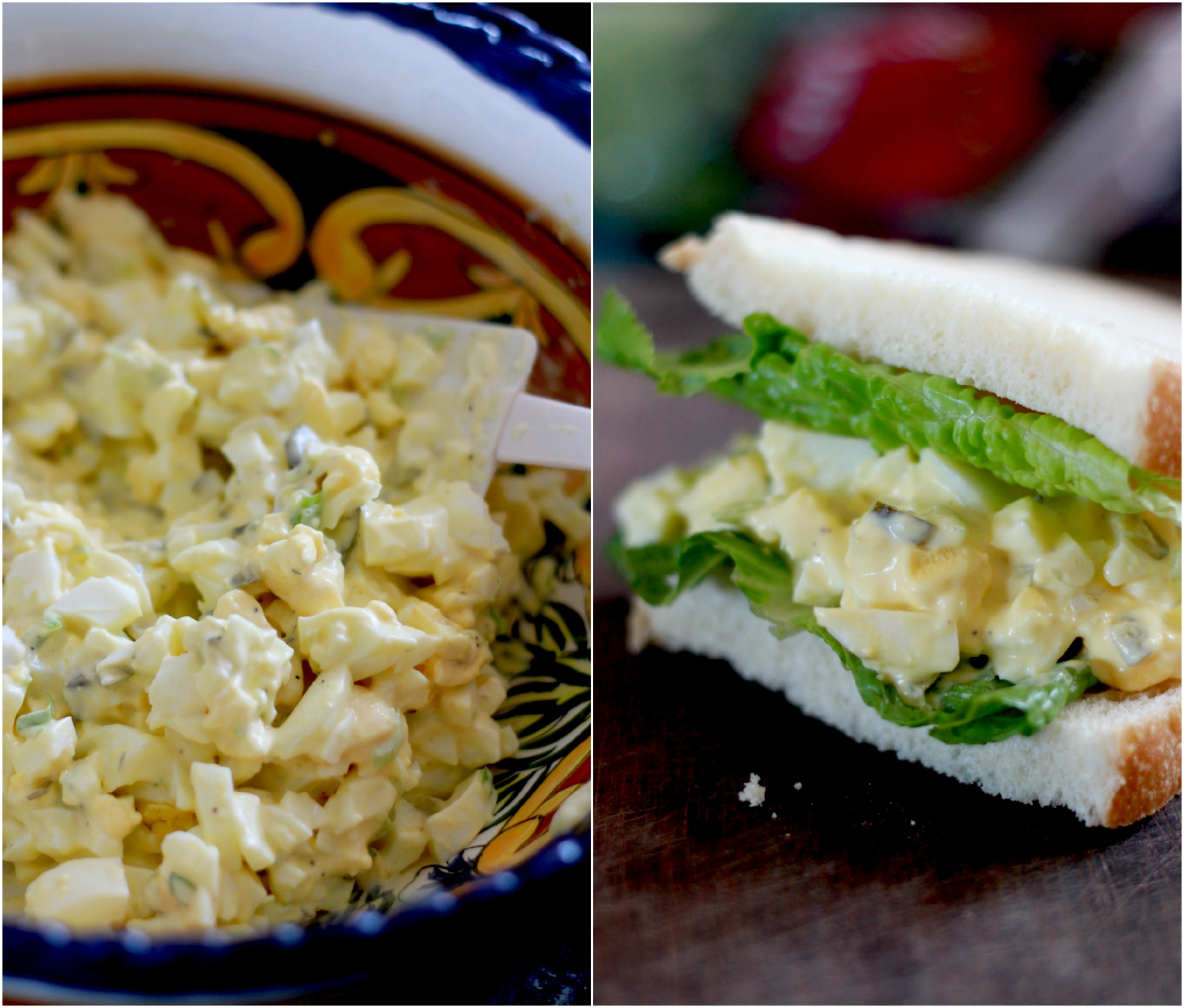 Perfect Egg Salad with Homemade Mayo and Lacto-Fermented Pickles {Gluten Free and Grain Free Option}