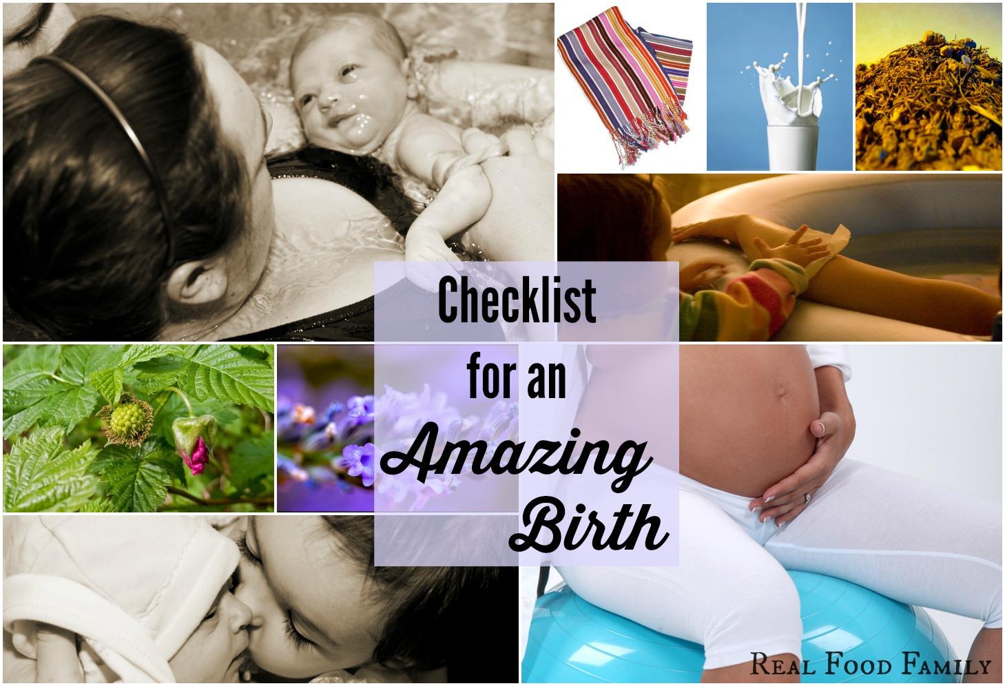 Checklist for an Amazing Birth