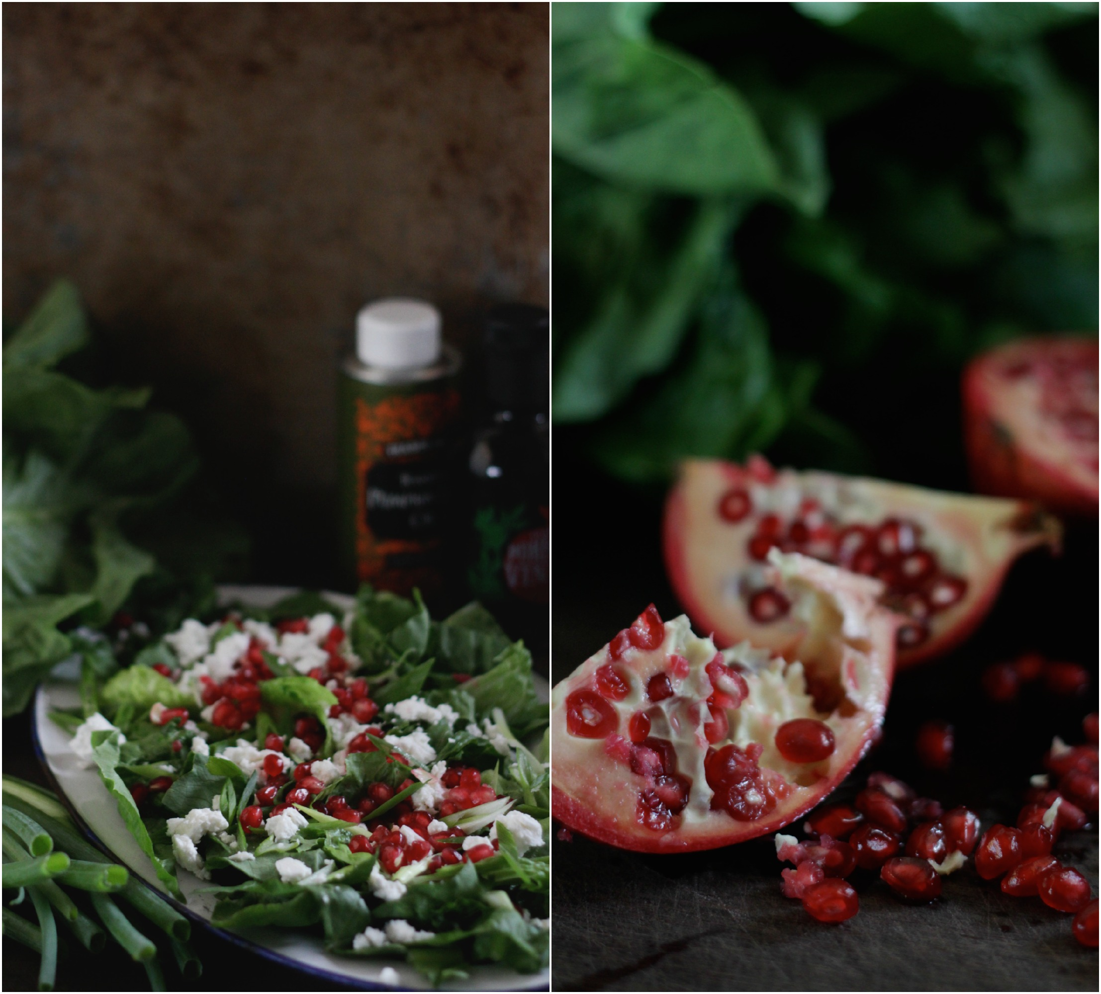Pomegranate Salad with Toasted Pumpkin Seed Vinaigrette